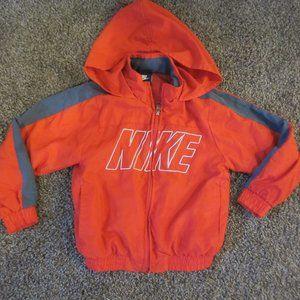 Nike Boys 4 Zip front windbreaker jacket